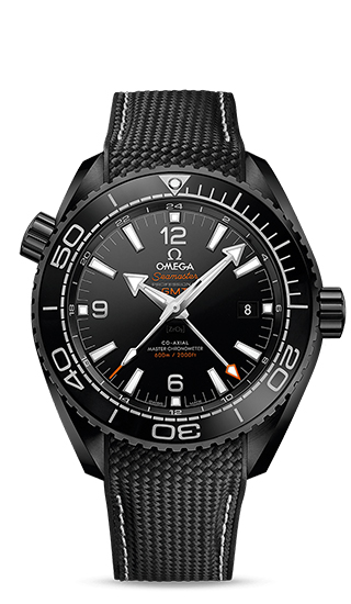 Planet Ocean 600M Omega Co-Axial Master Chronometer GMT 45,5 mm Deep Black